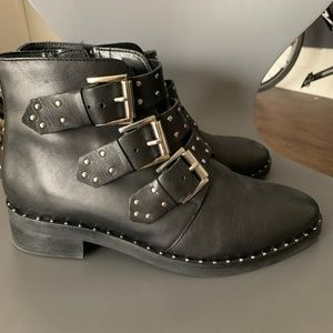 Asos studded leather boots size 7 - womens
